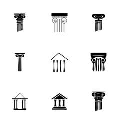 coloumn icons set vector image vector image