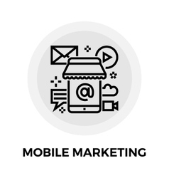 Mobile Marketing Line Icon vector image vector image