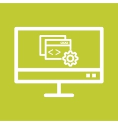 Programming Configuration vector image vector image