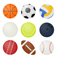 sports balls set vector image vector image
