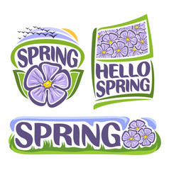 logo of spring flowers vector image