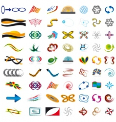 misc icons vector image