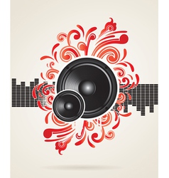 musical theme with speakers vector image