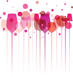 Pinky Party Glasses vector image