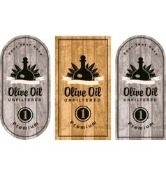 set of labels for olive oils vector image