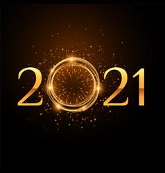 2021 new year celebration partyle golden sparkles vector