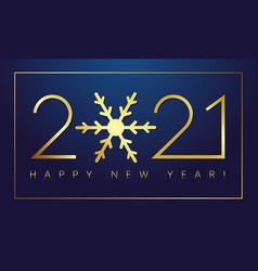 2021 new year gold snowflake deep blue bg vector