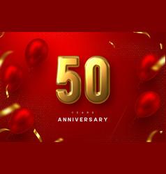 50 years anniversary celebration banner vector