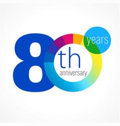 80 anniversary chart logo vector
