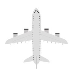 Airplane fly silhouette isolated icon vector