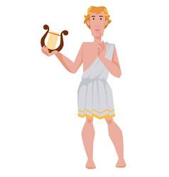 apollo greek or roman god archery music and vector image