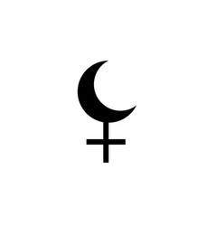 astrology alphabet lilith black moon icon isolated vector image
