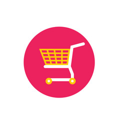 basket shopping cart - concept icon in flat graph vector image