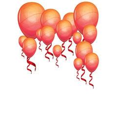 beautiful color balloons vector image