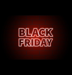 black friday black inscription on brick wall vector image