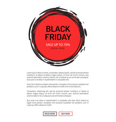 black friday sale on 25 november 2018 save tag vector image