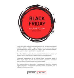 black friday sale on 25 november 2018 save tag vector image