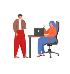 business team characters flat isolated vector image