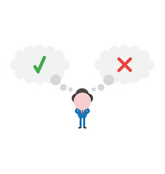 businessman character with thought bubbles with vector image