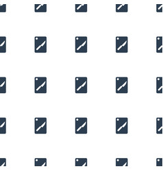 Chopping board and knife icon pattern seamless vector