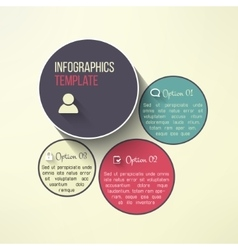 circle infographic boards in modern flat vector image