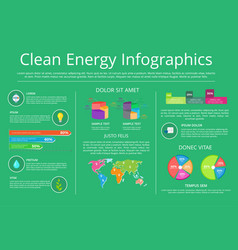 Clean energy infographics vector