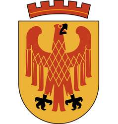 Coat of arms of potsdam in brandenburg germany vector