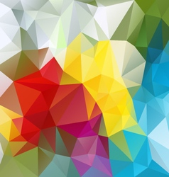 colorful abstract polygon triangular pattern vector image