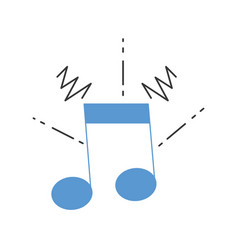 Colorful musical note sign to rhythm sound vector