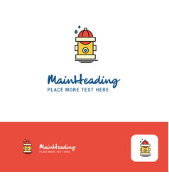 creative hydrant logo design flat color logo vector image
