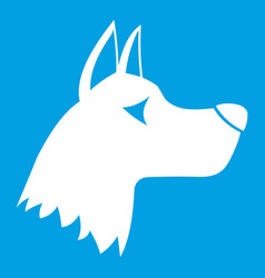 Doberman dog icon white vector