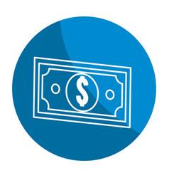 Emblem bill dolar money vector
