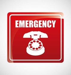 emergency concept design vector image
