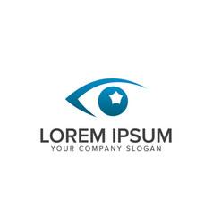 eye vision logo design concept template vector image
