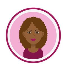 Female avatar smiling girl face vector