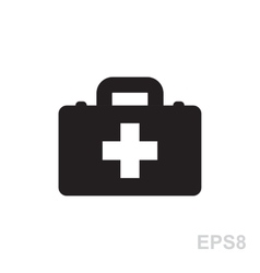 first aid kit icon isolated vector image vector image