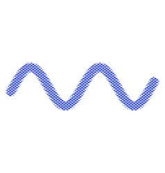 Fish sinusoid wave collage vector