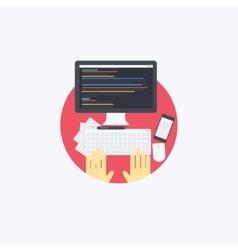 Flat programmer vector