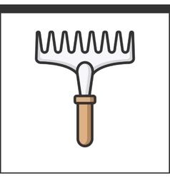 Garden rake icon vector image