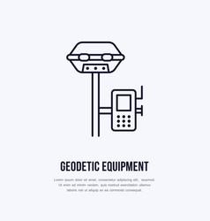 Geological survey engineering flat line vector