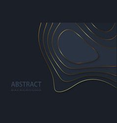 geometric cut paper black luxury background with vector image
