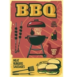 Grill Time BBQ Poster vector