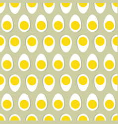 Half egg with yolk seamless ornament easter food vector