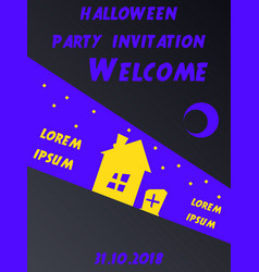 Halloween party invitation halloween party scary vector