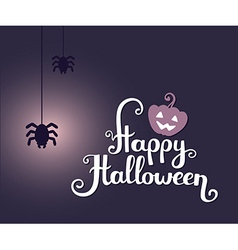 halloween with text happy halloween glowin vector image