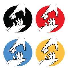 hands help vector image