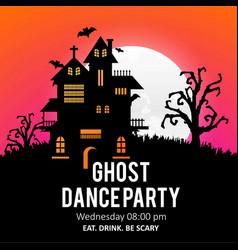 happy halloween creative design with typography vector image
