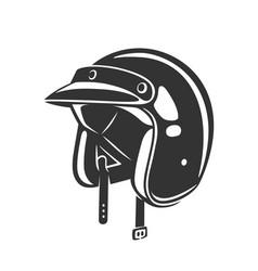 helmet vintage vector image