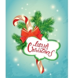 Holiday New Year greeting Card with xmas candy vector image