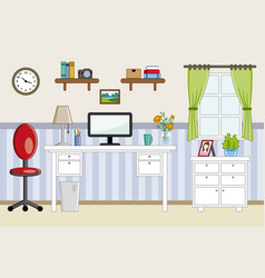 Homeoffice workplace - flat design vector